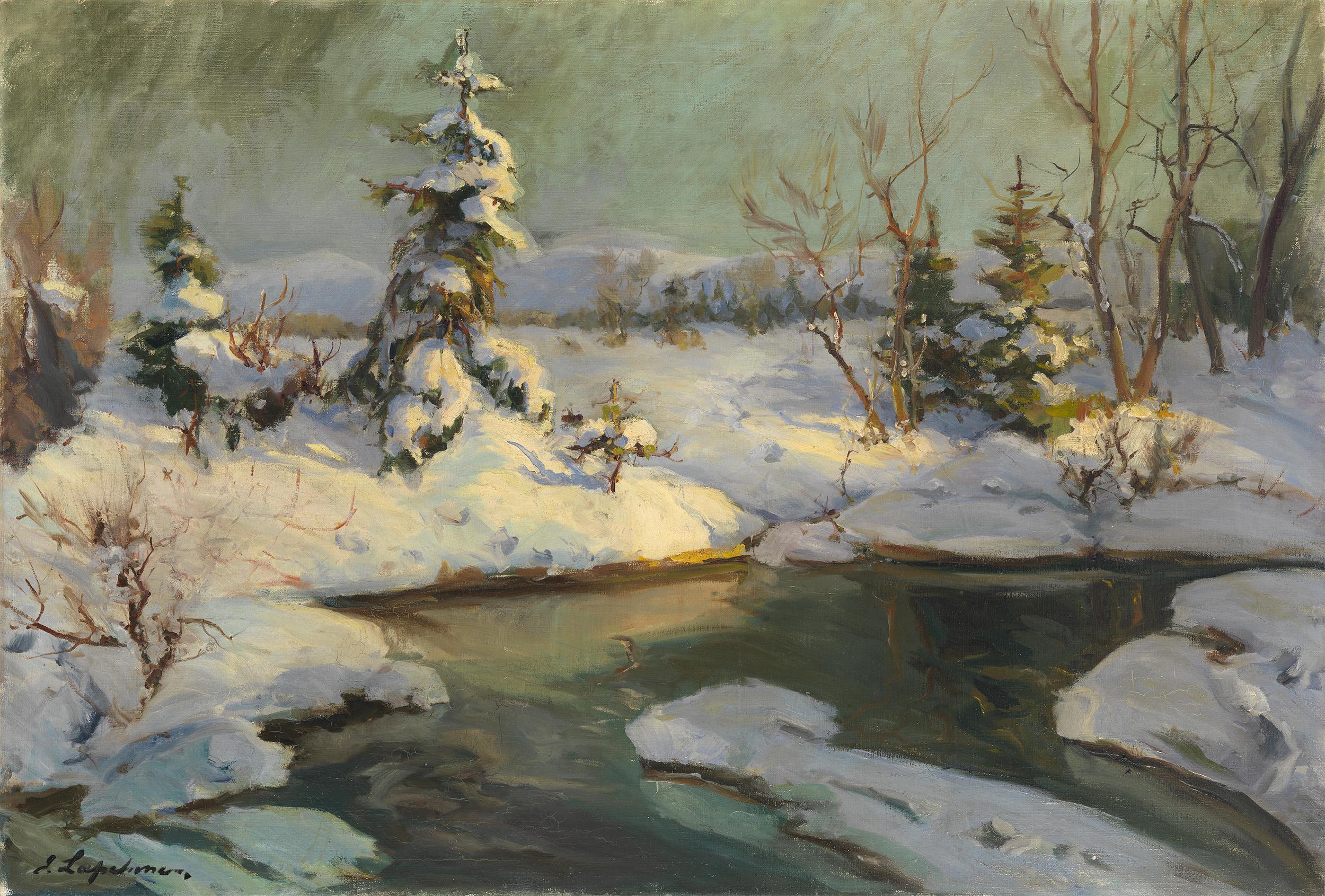 LAPCHINE, GEORGES Winter Landscape