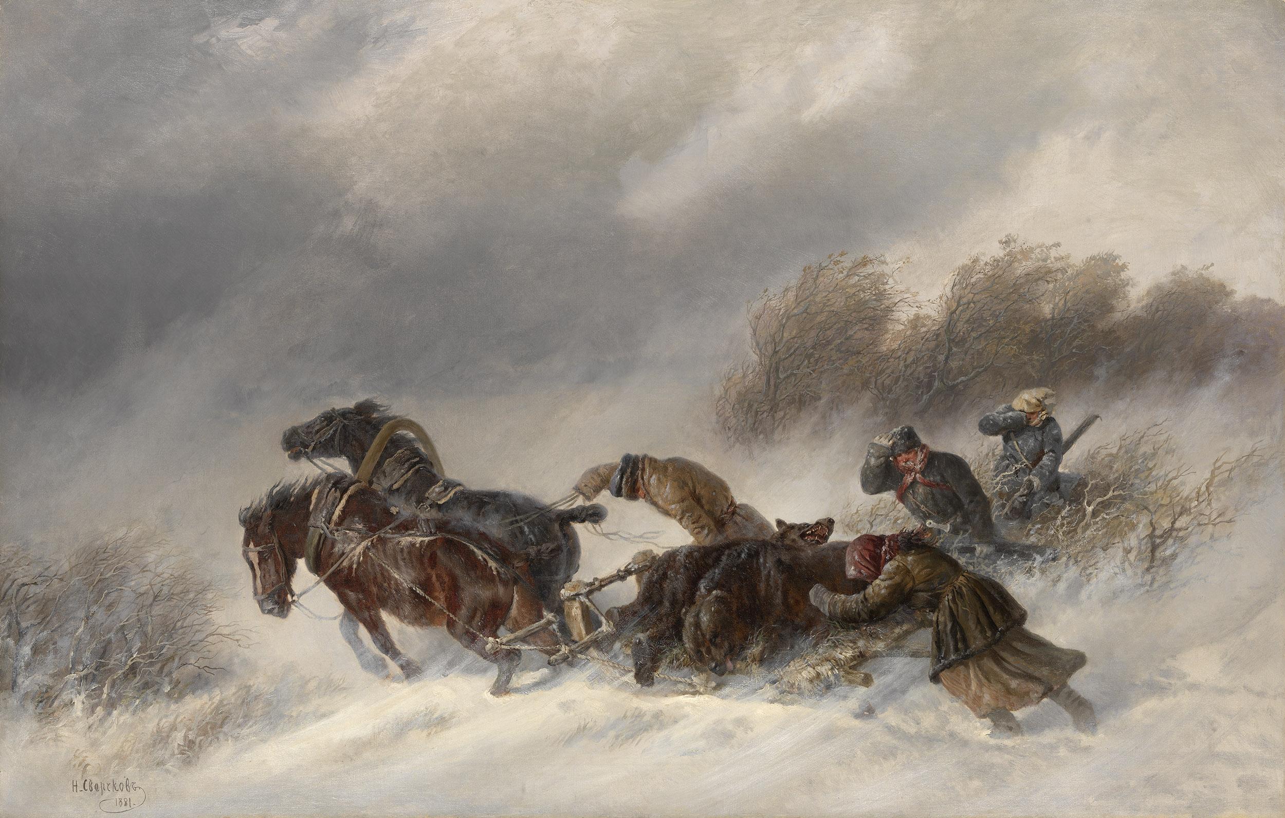 SVERCHKOV, NICOLAI Returning from a Bear Hunt,