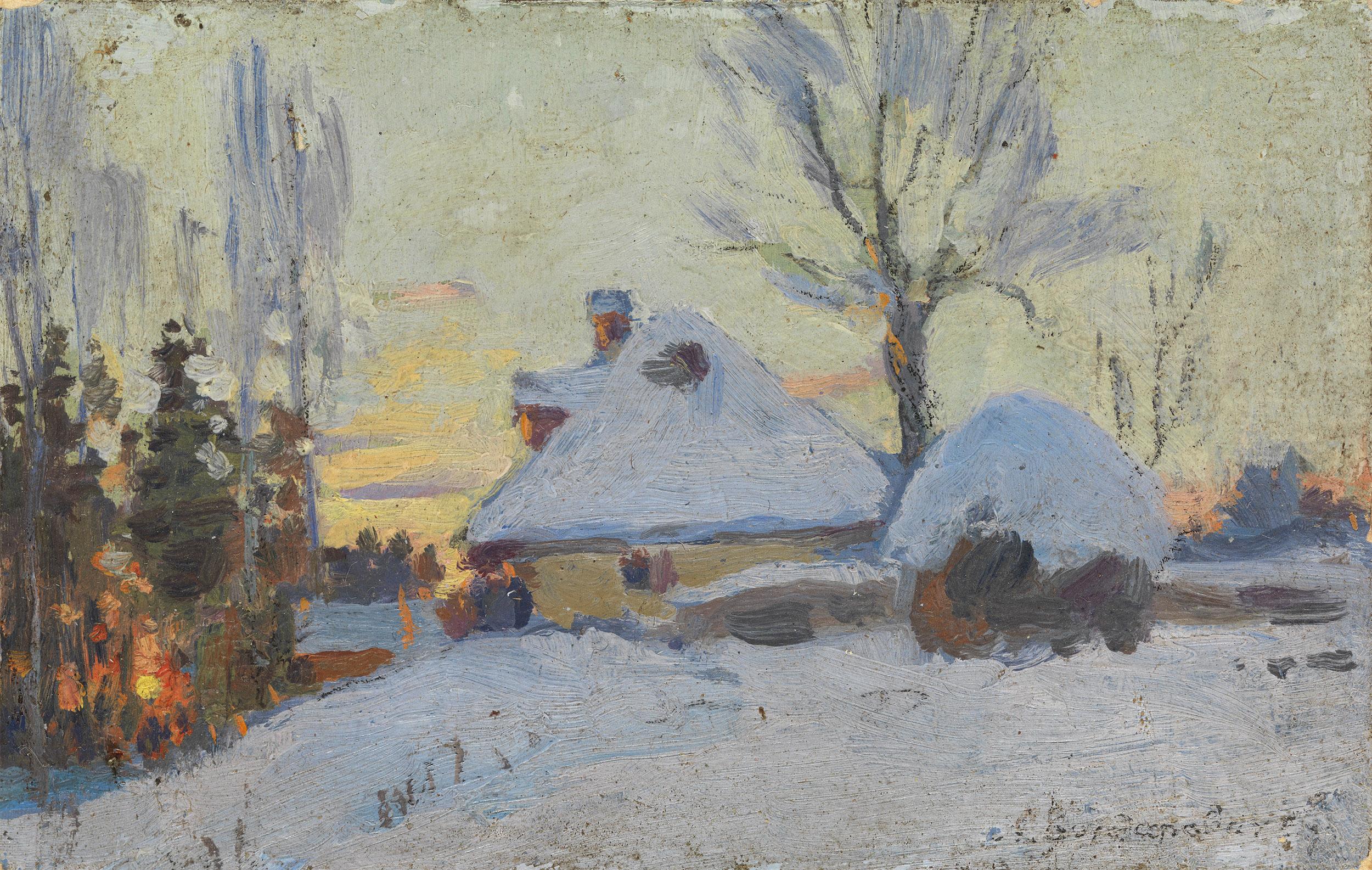 VASILKOVSKY, SERGEI  Winter Village at Sunset