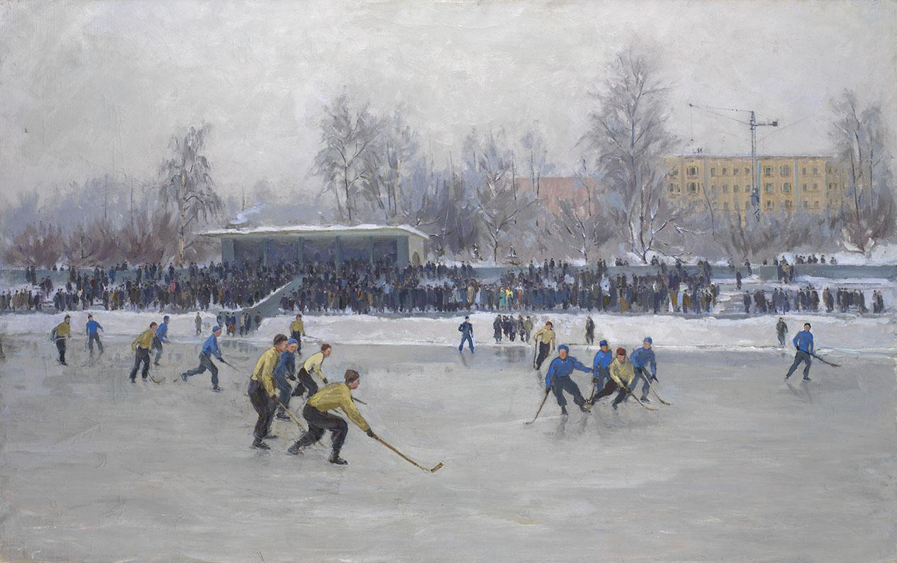 VYALOV, KONSTANTIN Playing Hockey at Dynamo Stadium