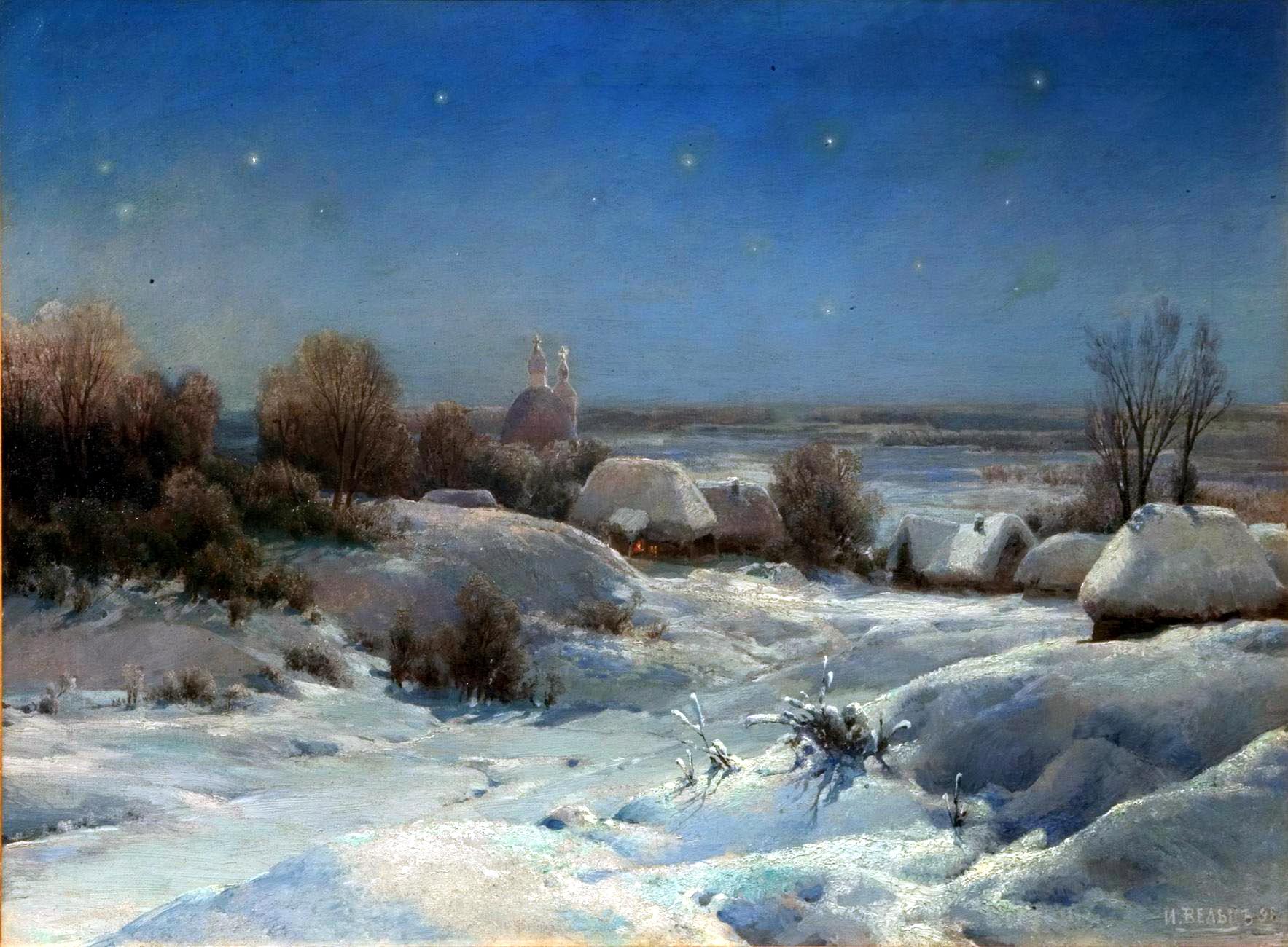 Русская зима в картинах русских художников
