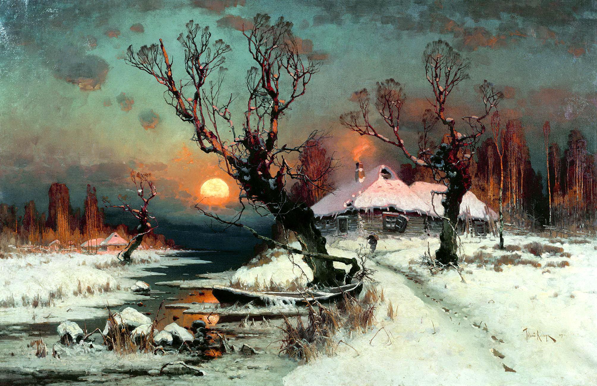 КЛЕВЕР Юлий - Закат солнца зимой
