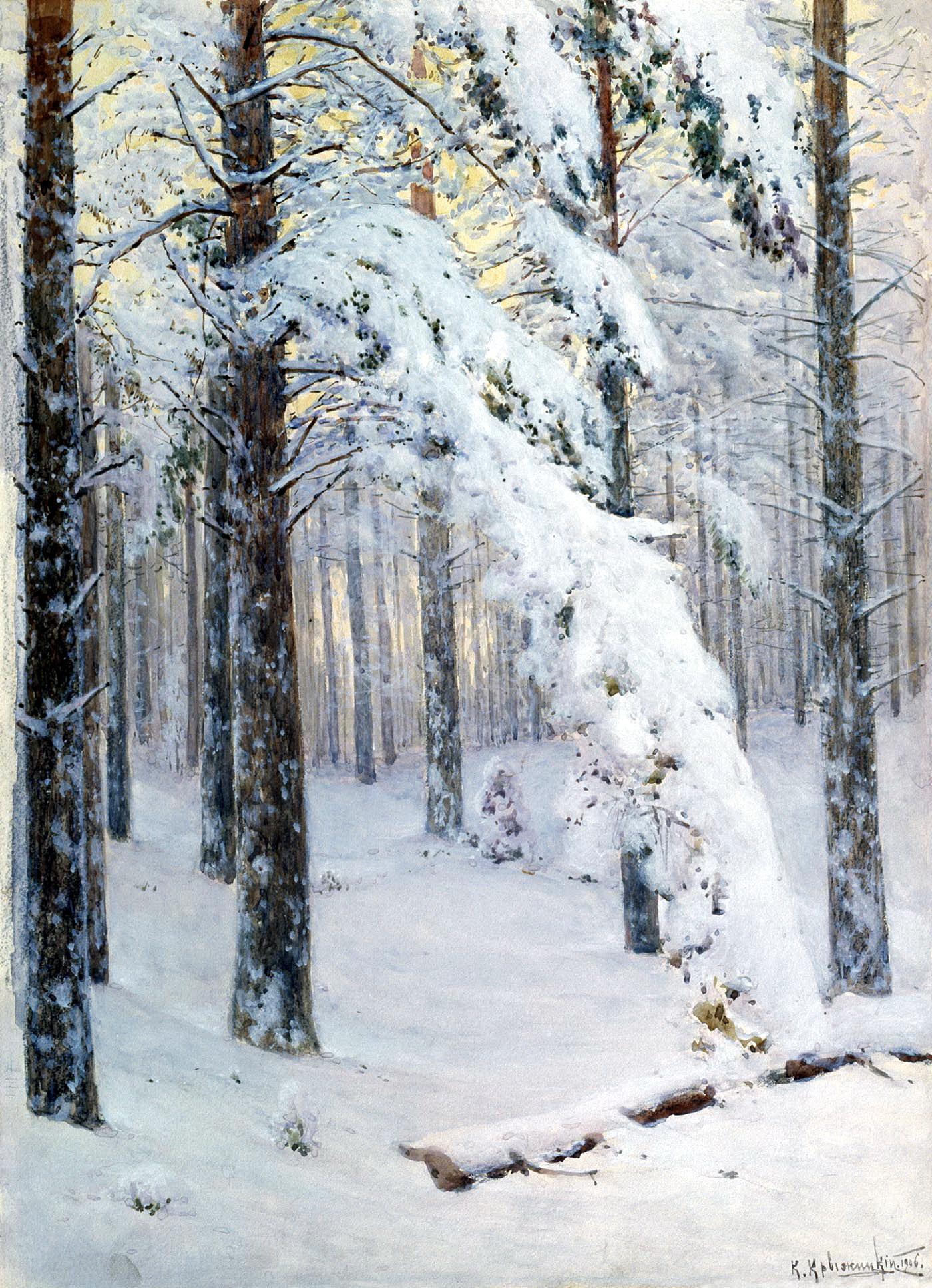 КРЫЖИЦКИЙ Константин - Лес зимой