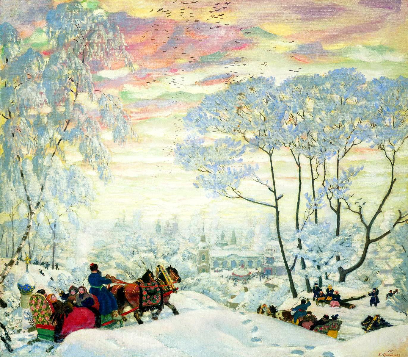 КУСТОДИЕВ Борис - Зима. 1916