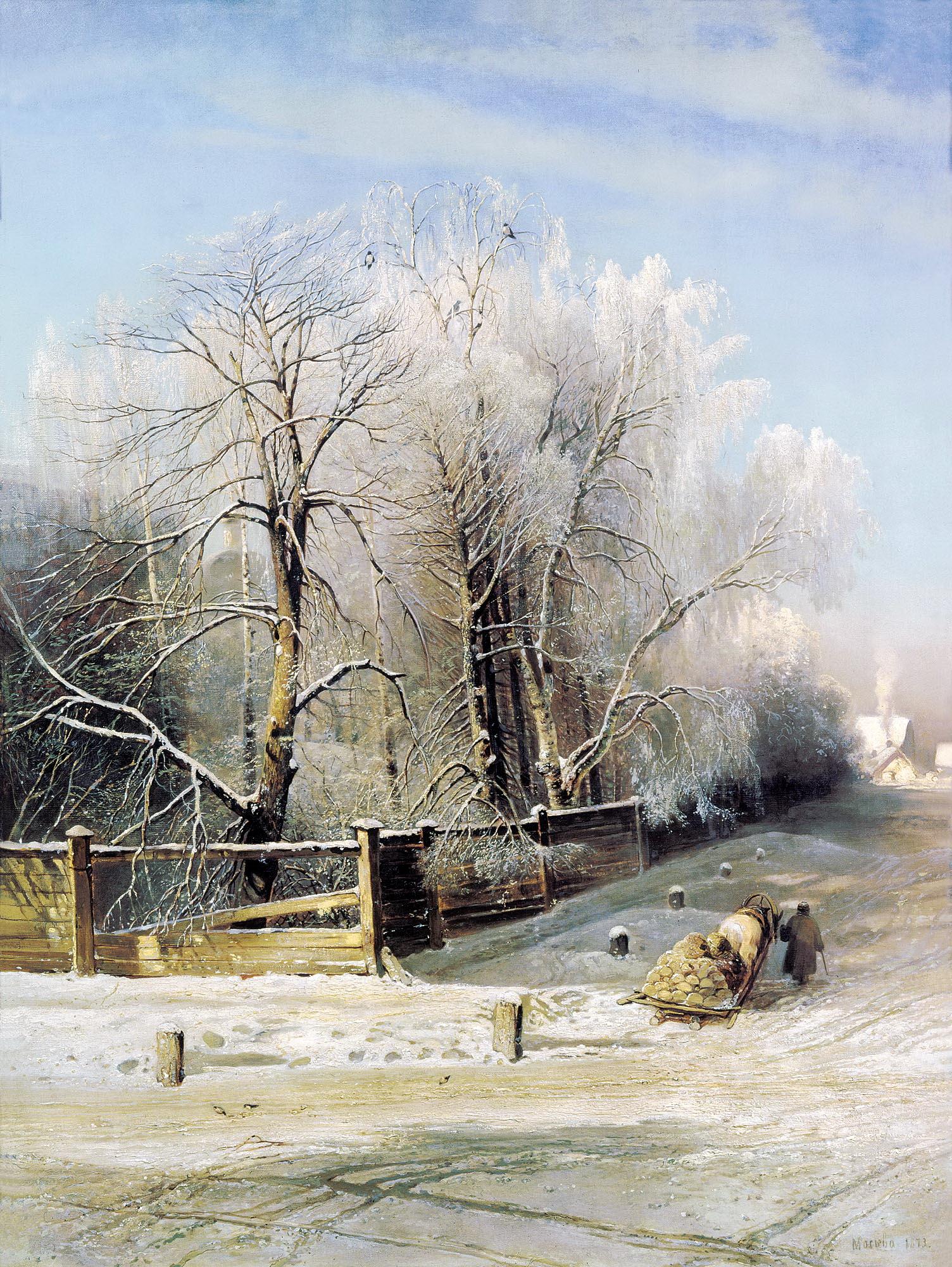 САВРАСОВ Алексей - Зимний пейзаж