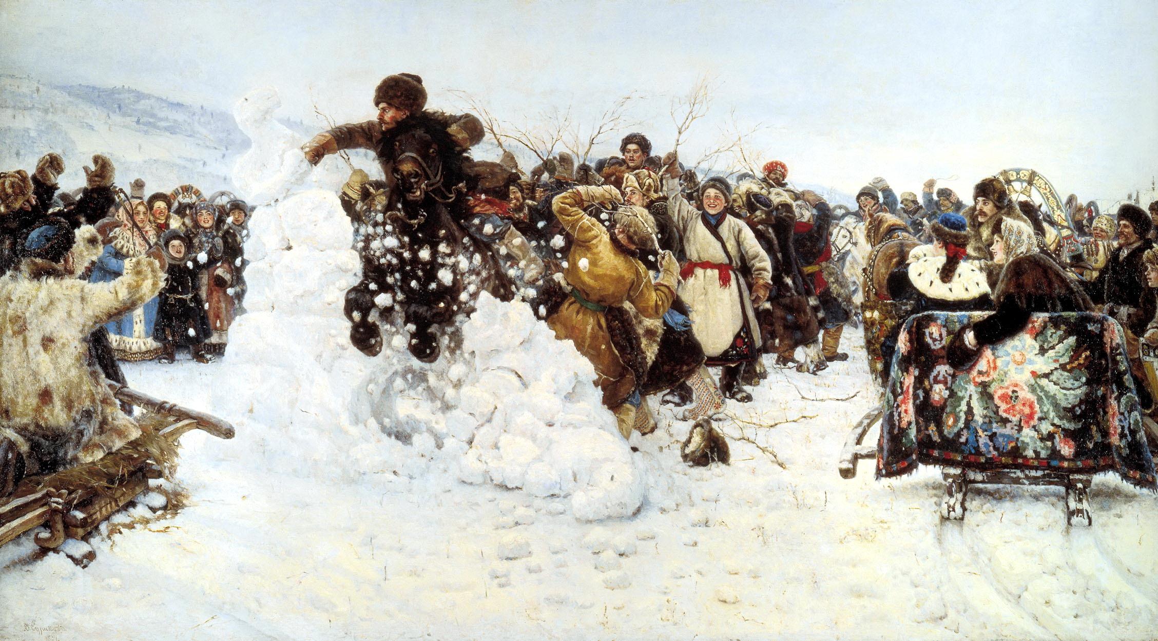 СУРИКОВ Василий - Взятие снежного городка
