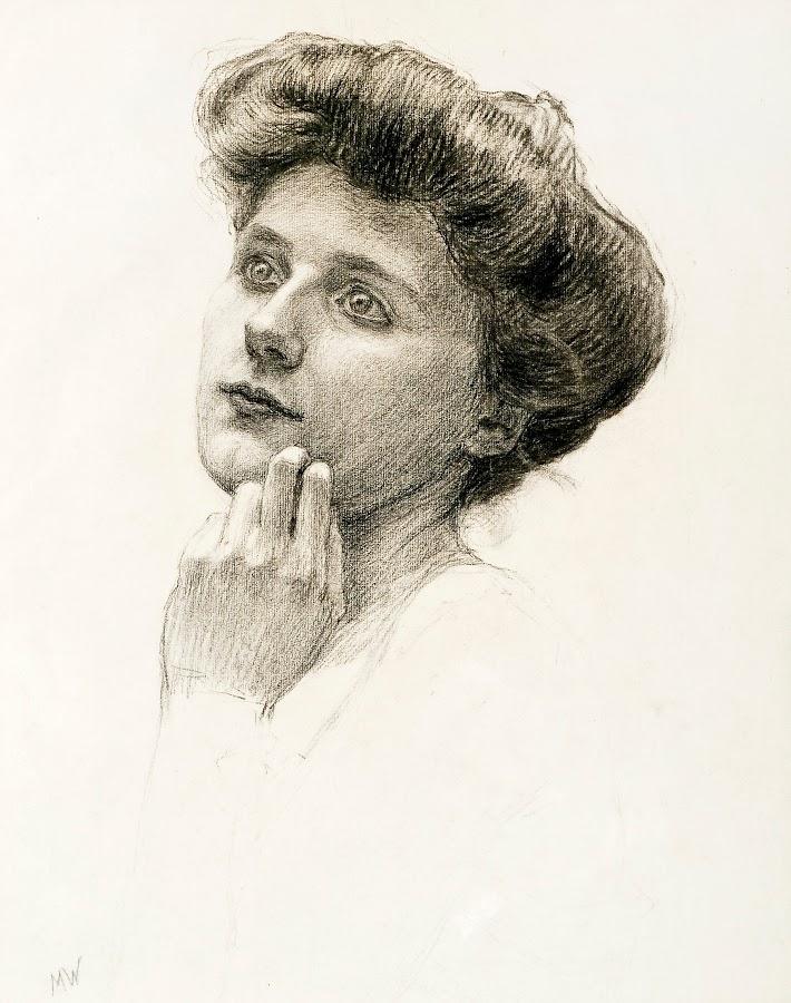 Maria Wiik 1853-1928 PORTRAIT OF A WOMAN