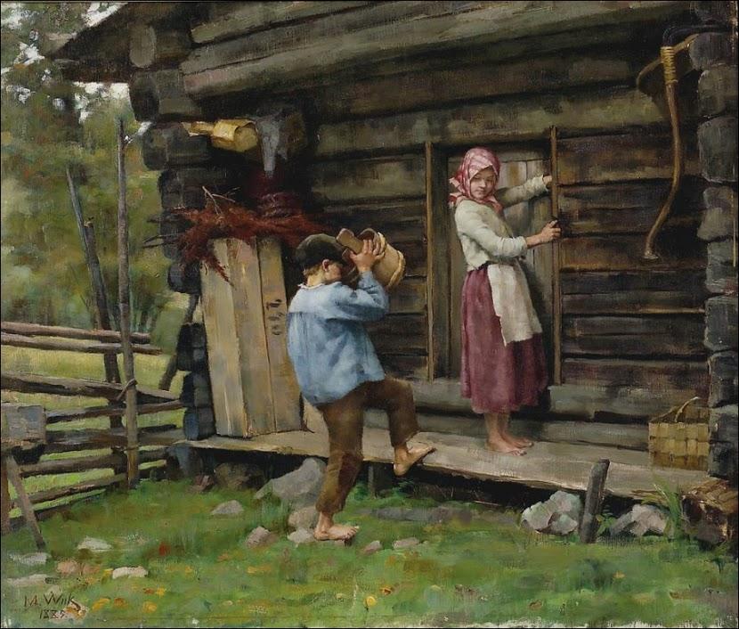 WIIK, MARIA (1853-1928)   HAMEESTA. 1885.