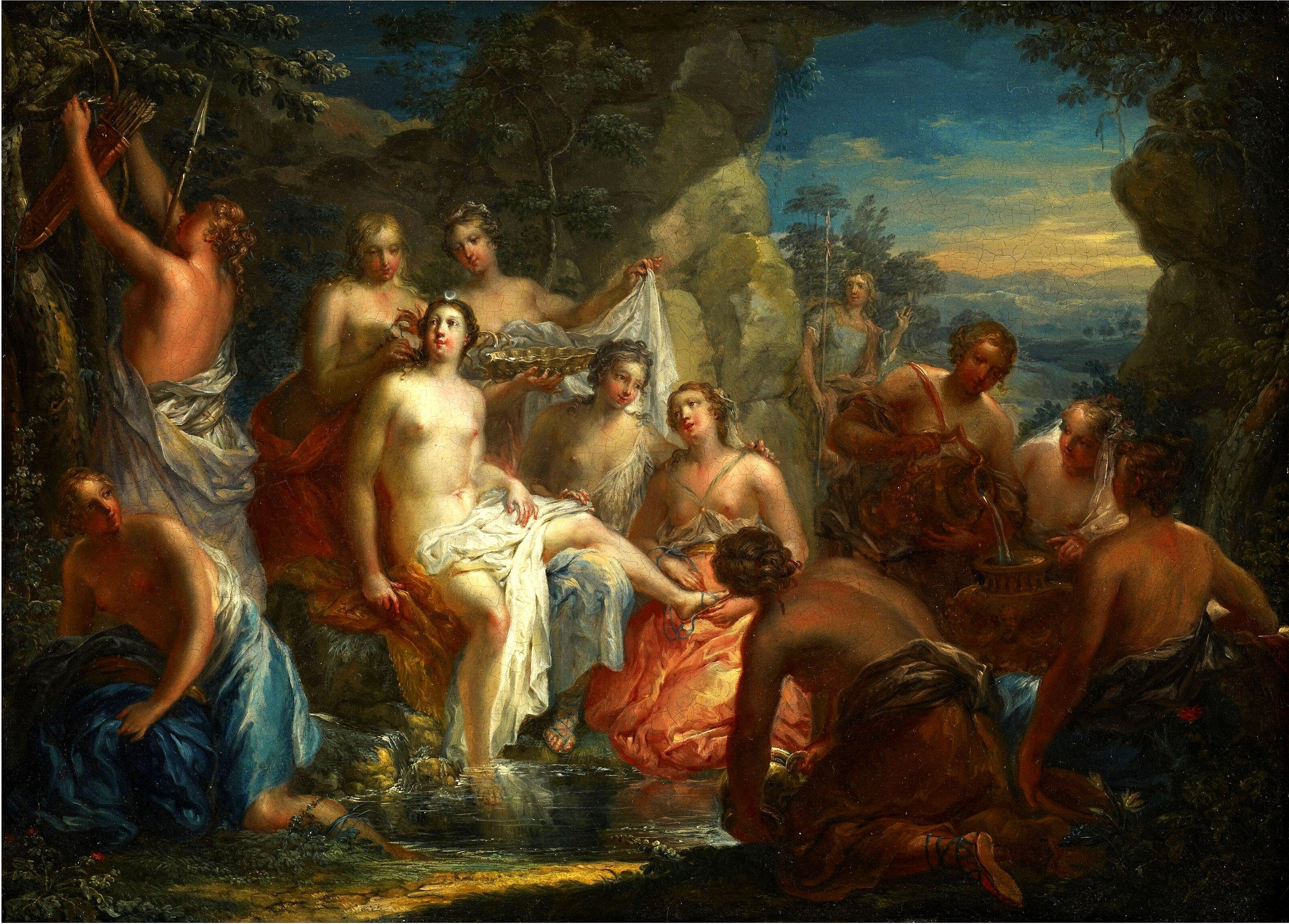 Купание Дианы. ок.1730. 34.9 х 42.2 см. Миннеаполис, Институт искусств