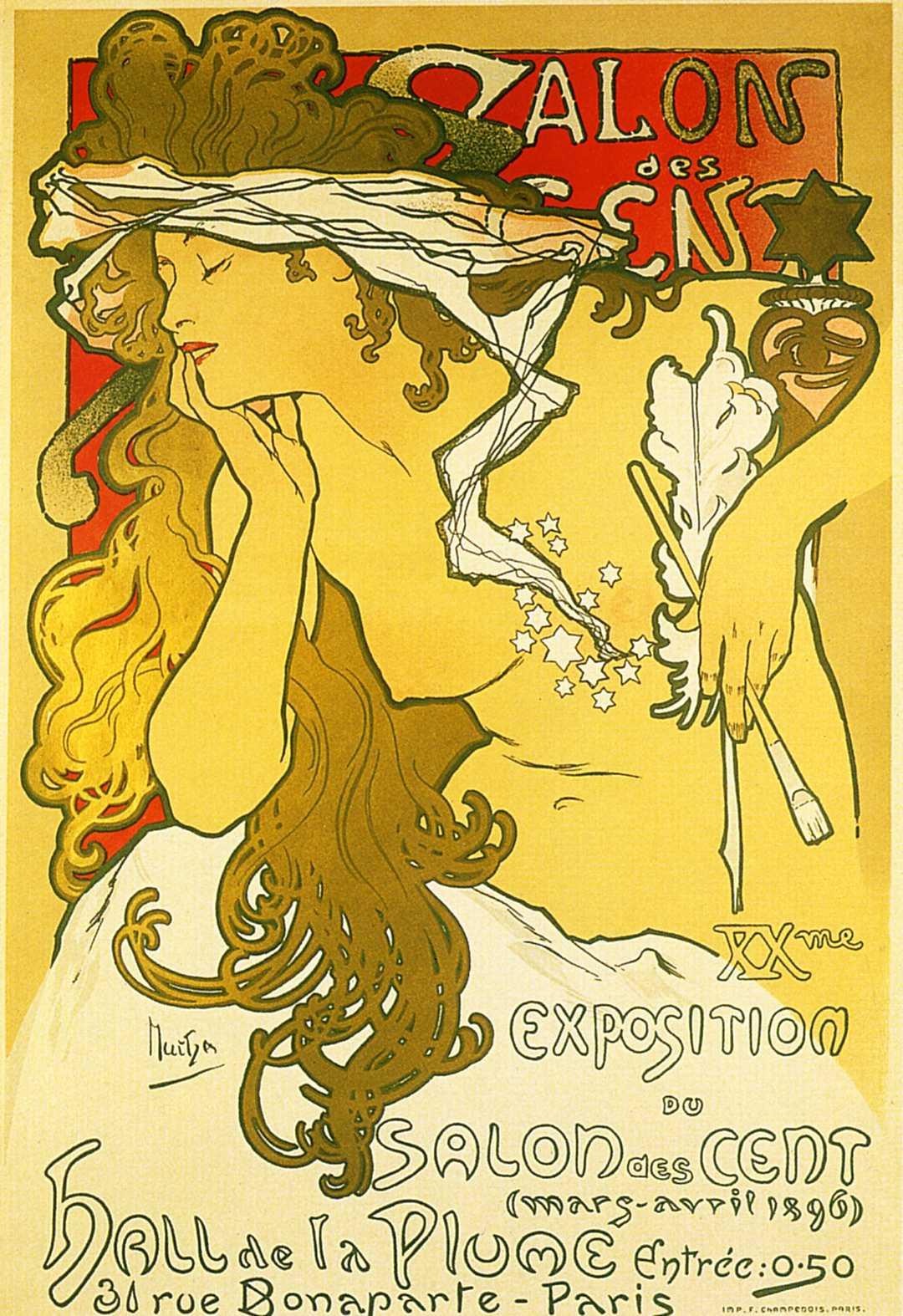 Афиша выставки в 'Салоне ста'-1896
