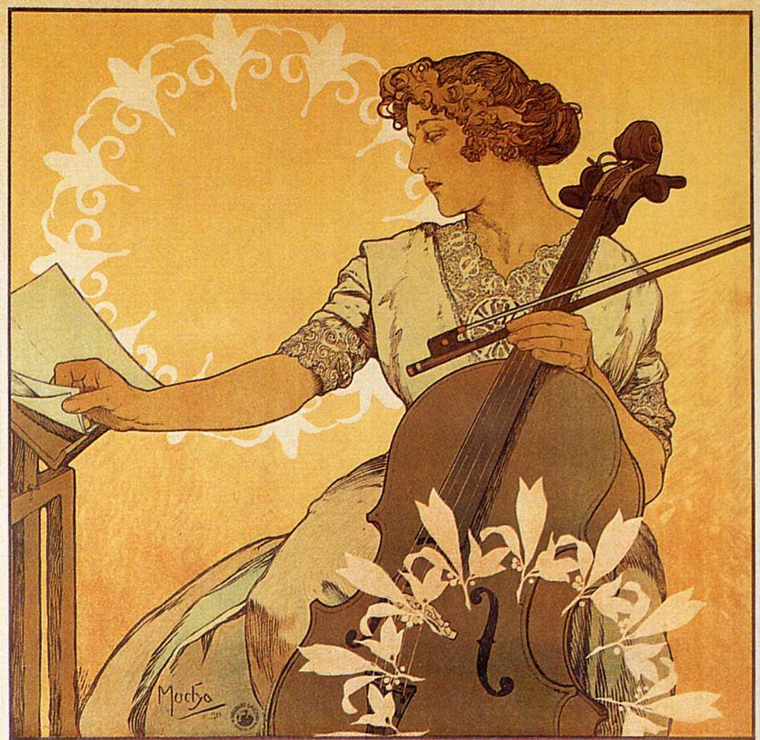 Афиша для концерта Зденки Черны. Фрагмент-1913