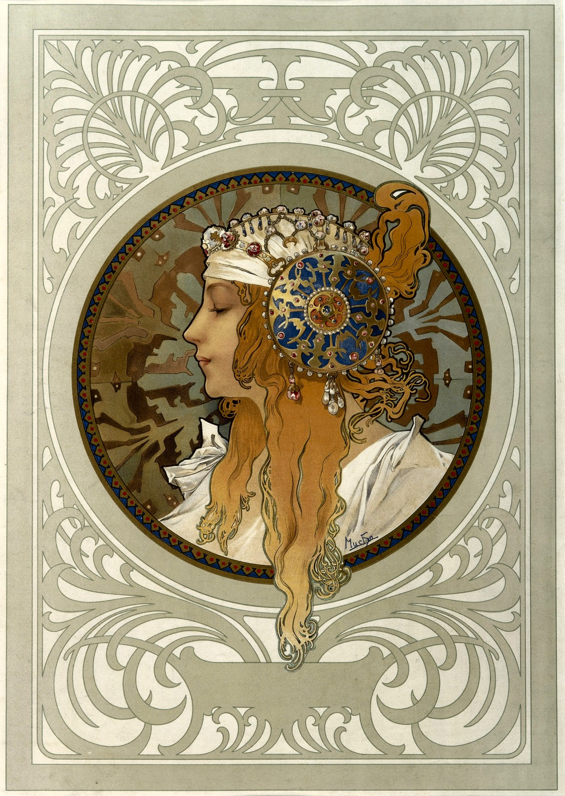 Голова византийки. Блондинка-1897