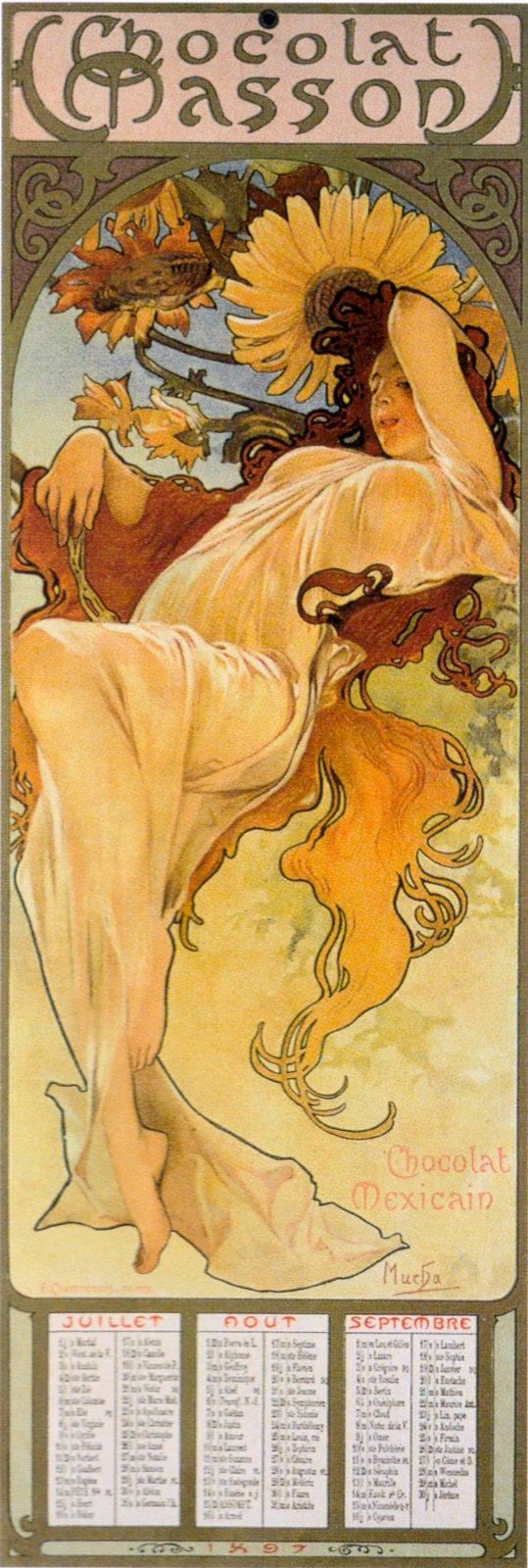 Календарь Chocolat Masson-Сезоны-Лето-1897