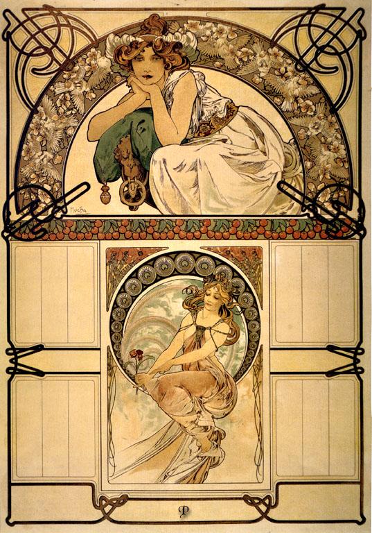 Календарь De la fleur cerisier-1898