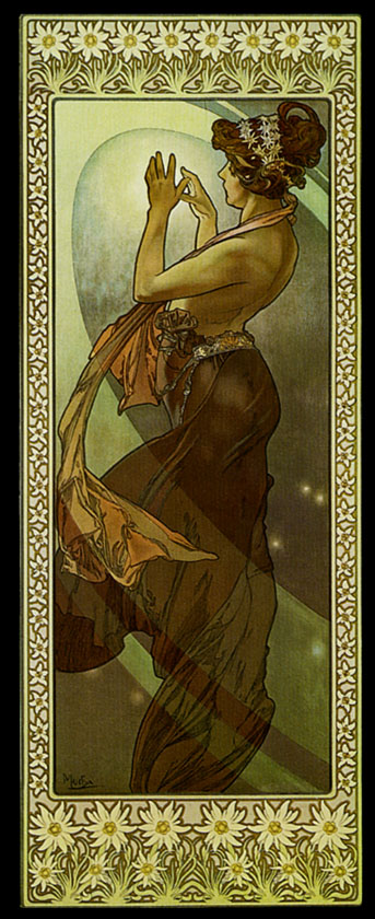 Луна и звёзды. Полярная звезда-1902