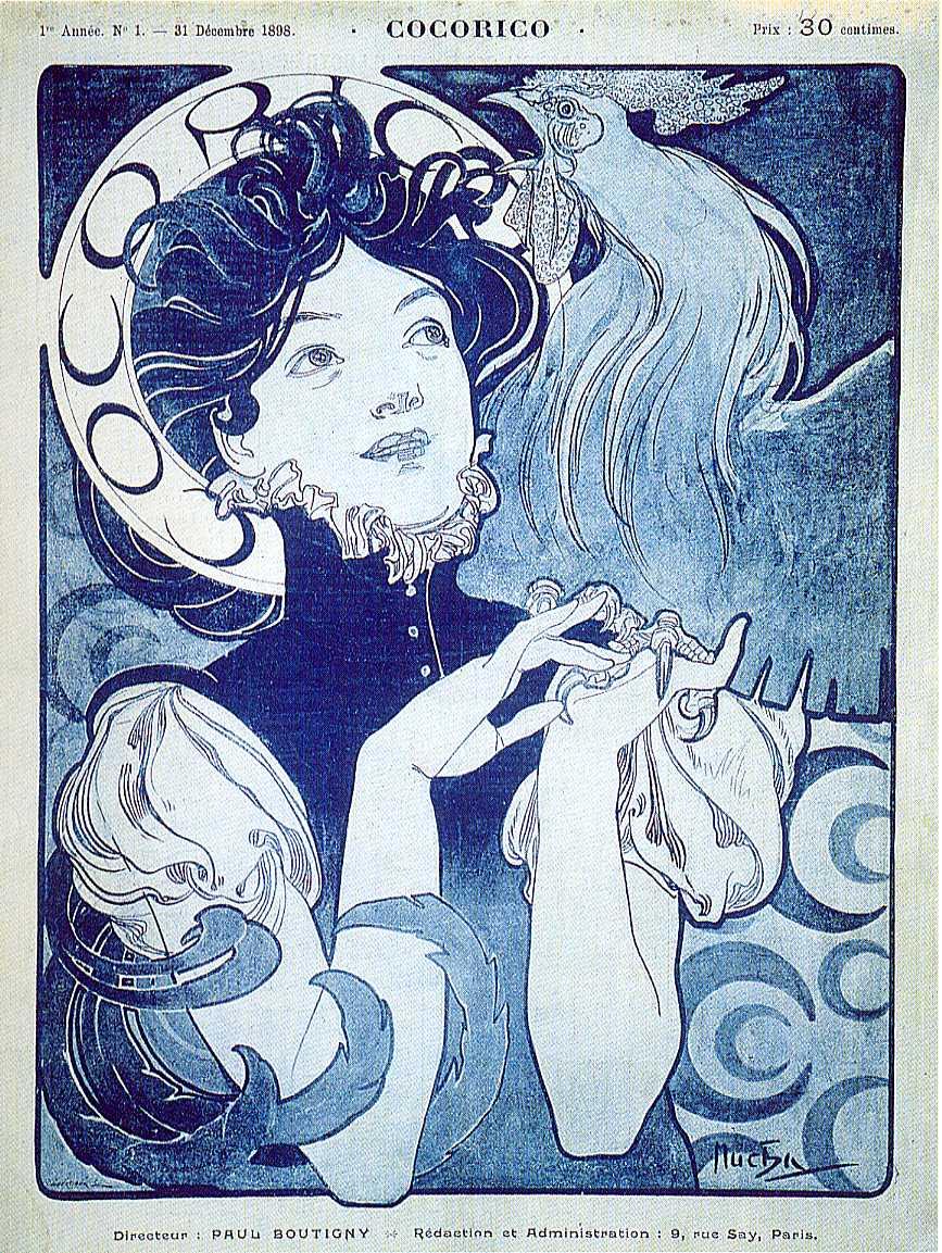 Обложка для журнала «Кокорико». Париж-1898