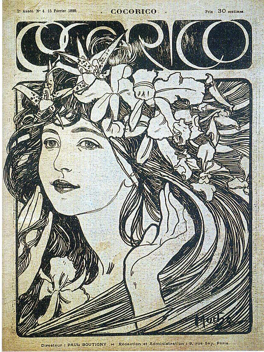 Обложка для журнала «Кокорико». Париж-1899