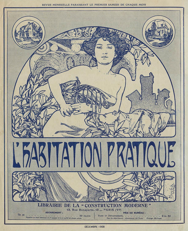 Обложка для журнала L'Habitation Pratique-1908
