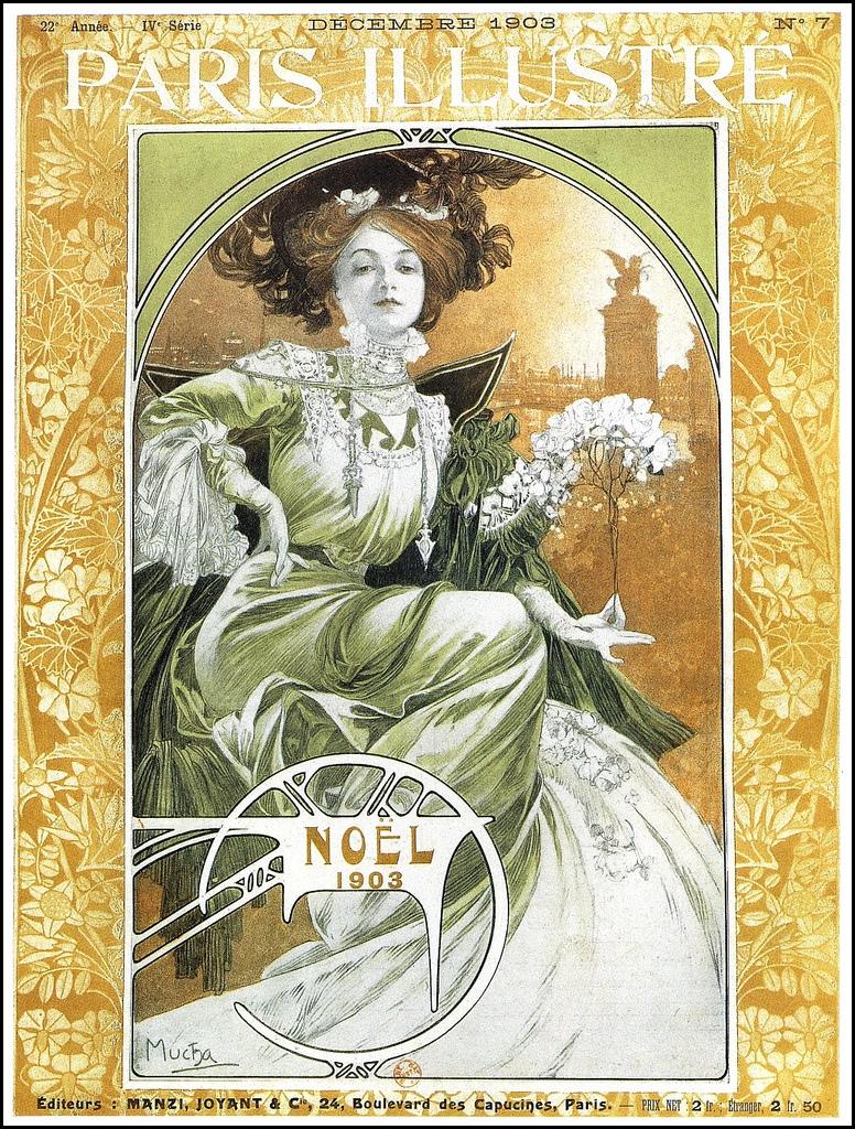 Обложка журнала Paris Illustre-Noel-1903
