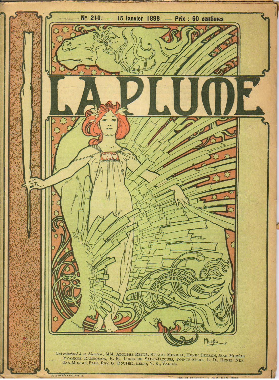 Обложка французского литературного и художественного журнала  La Plume-1898