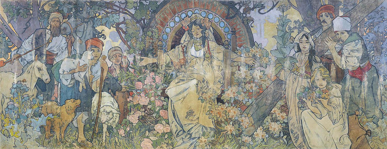 Панель павильона Босния и Герцеговина на всемирной выставке-1900