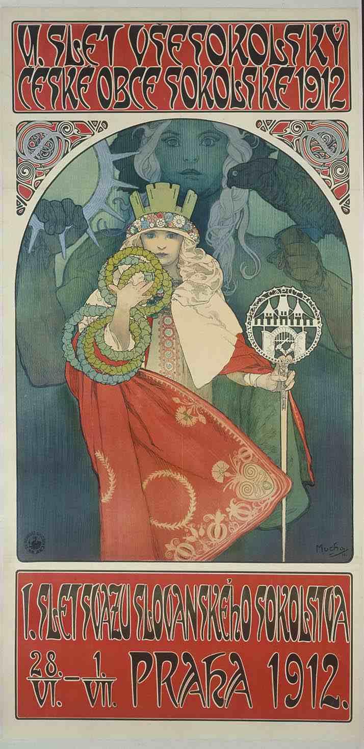 Плакат 6-го фестиваля 'Сокол'-1912