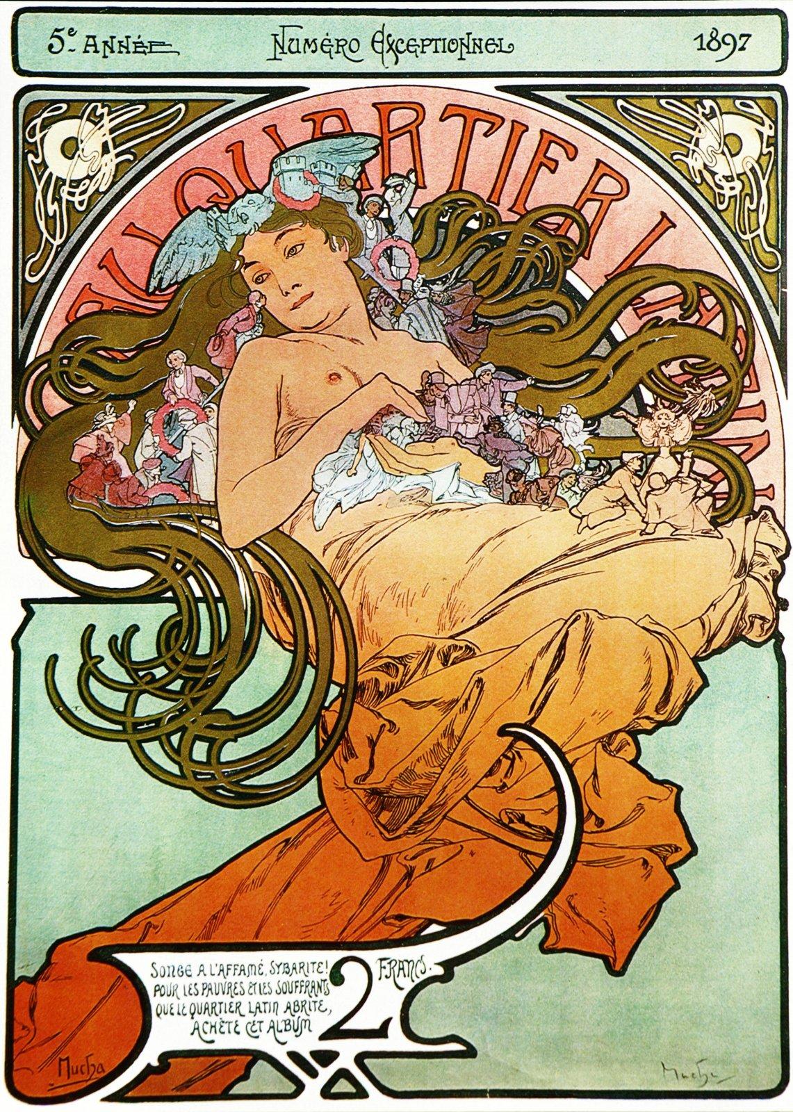 Плакат A quartier latin-1897
