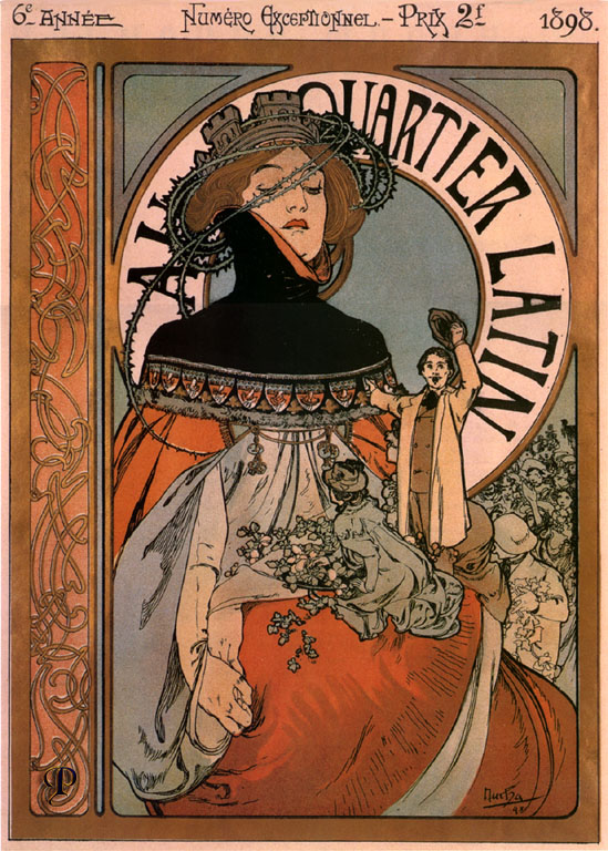 Плакат A quartier latin-1898