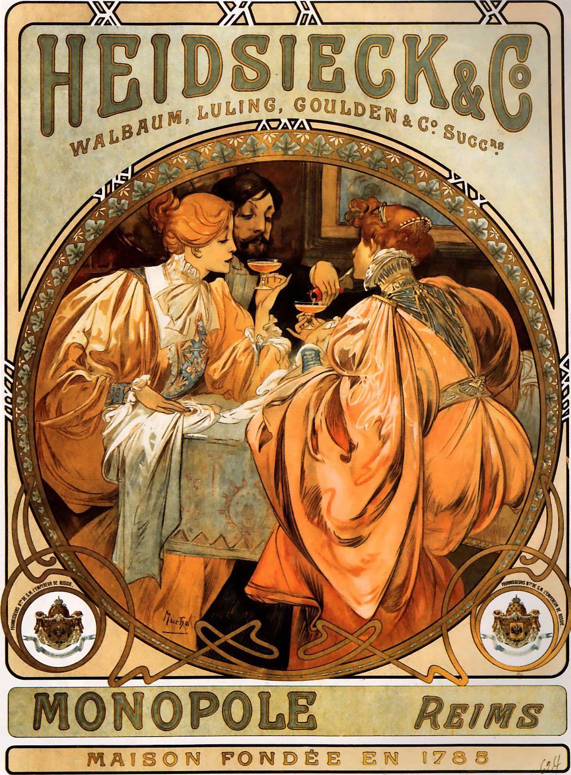 Плакат Heidsieck & Co.-1901
