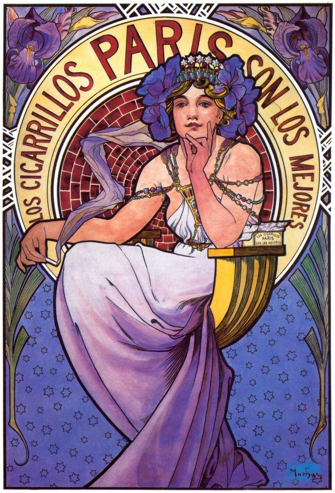 Плакат Los Cigarillos Paris-1897