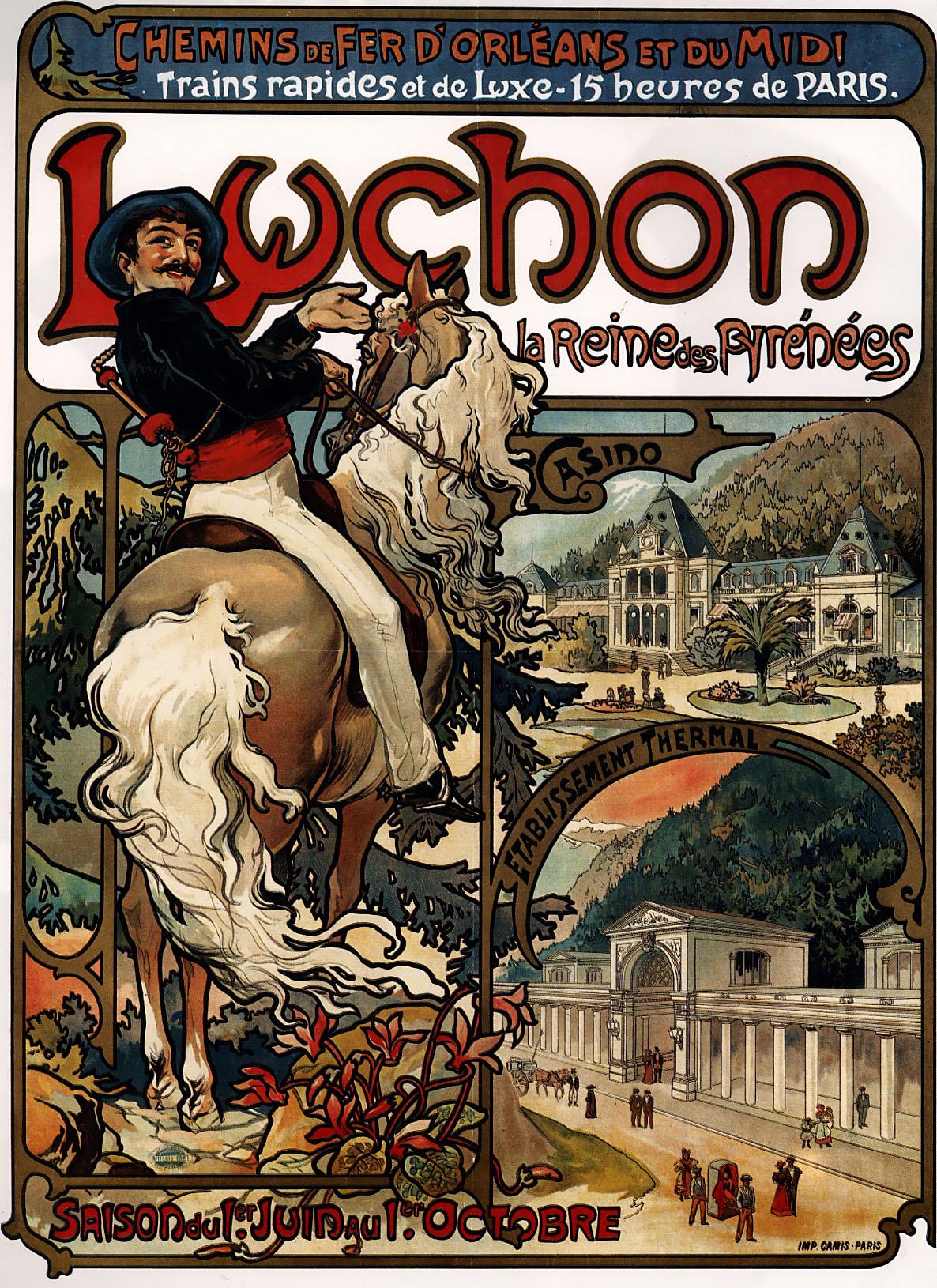Плакат Luchon-1895