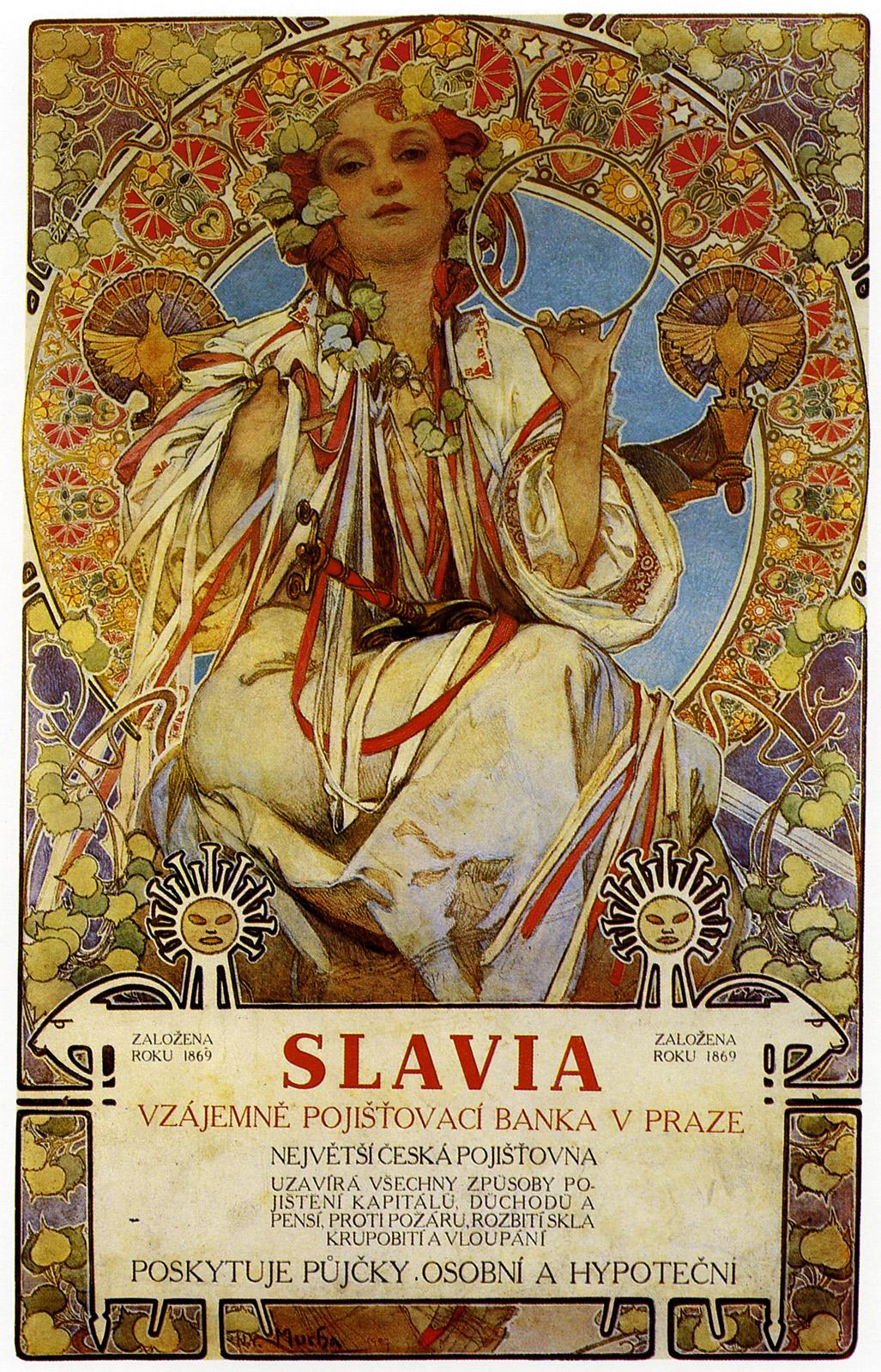 Плакат Slavia-1896