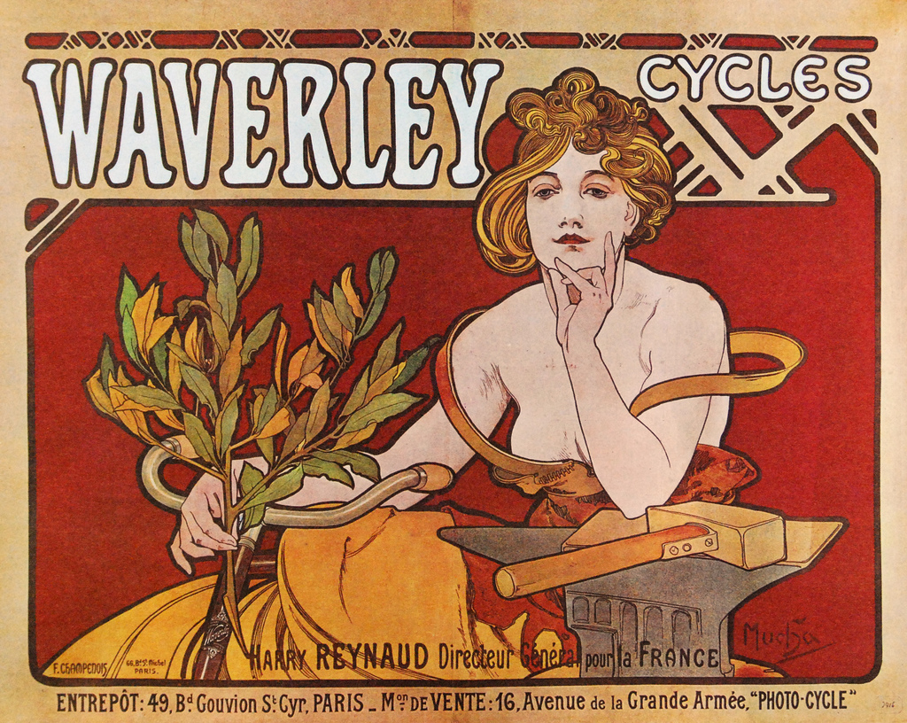 Плакат Waverley Cycles-1898