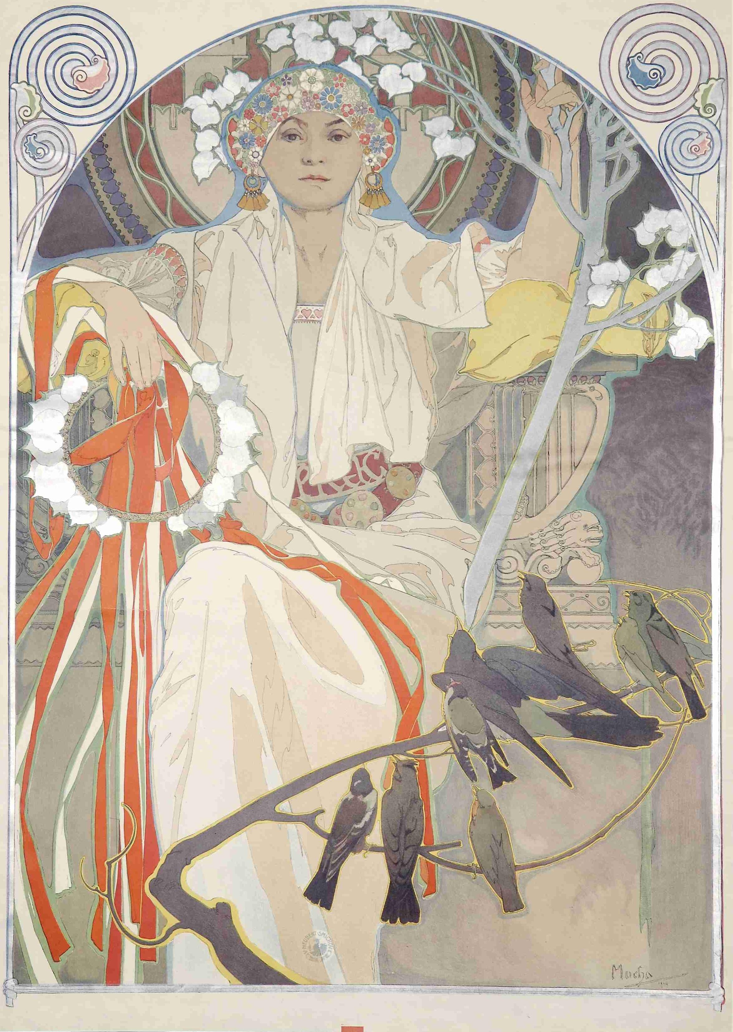 Плакат весенней музыки и песни Jarni Slavnosti-1914