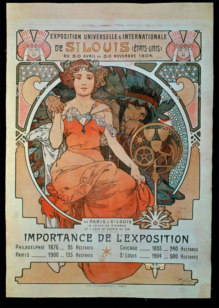 Плакат Универсальной и Международной выставки в Сент-Луисе,  30 апреля по 30 ноября 1904 г
