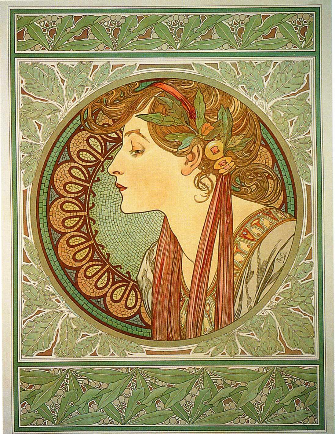 Растения-Лавровый венок-1901