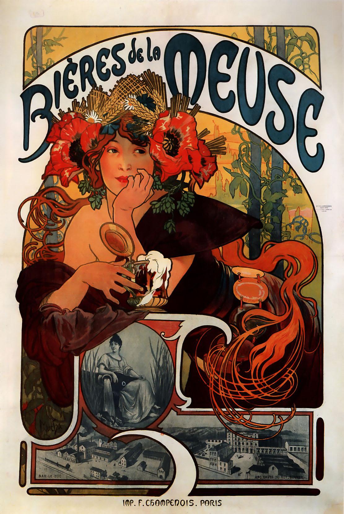 Реклама пива Bieres de la Meuse-1897
