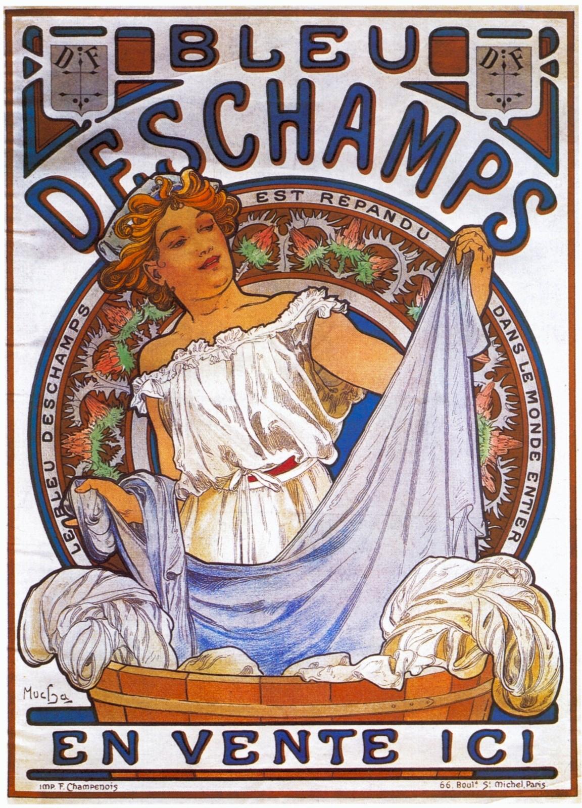 Реклама синьки торговой марки Deschamps-1897