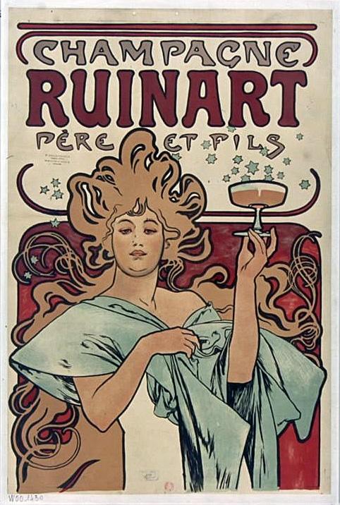Реклама сухого шампанского Ruinart. Фрагмент-1896