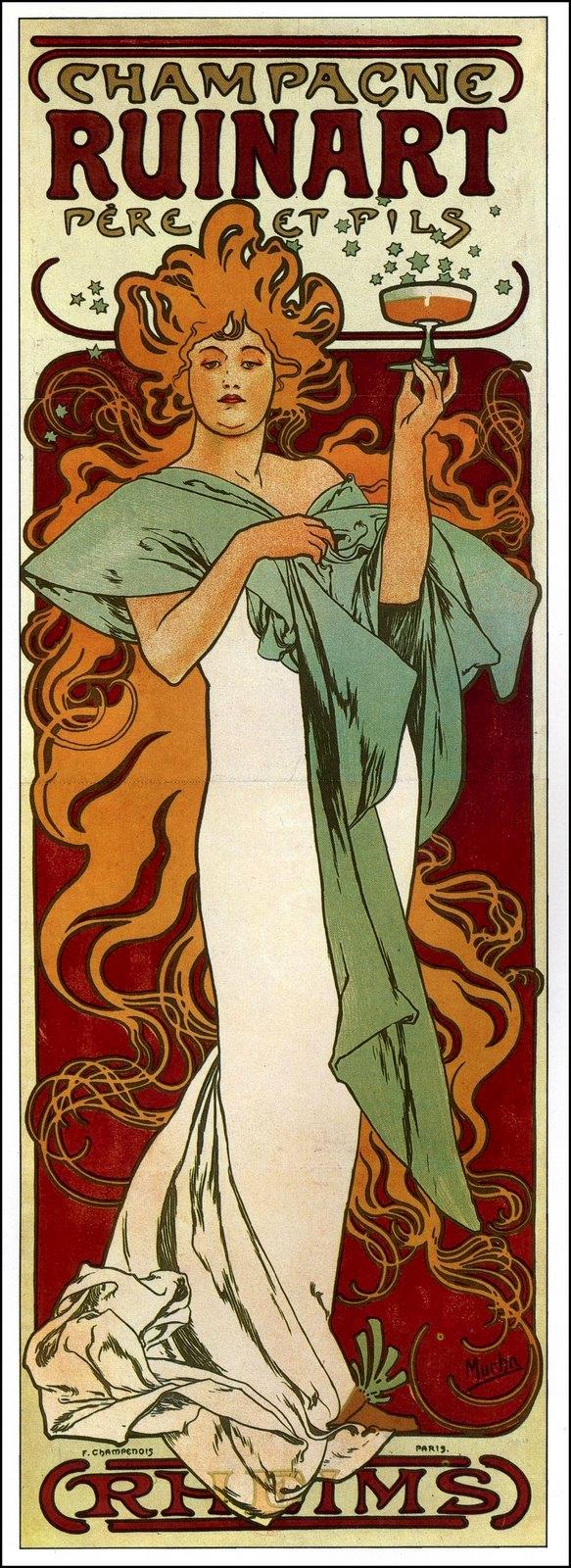 Реклама сухого шампанского Ruinart-1896