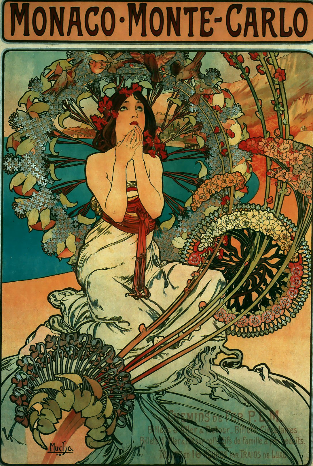 Реклама туристического агентства - Monaco Monte-Carlo-1897
