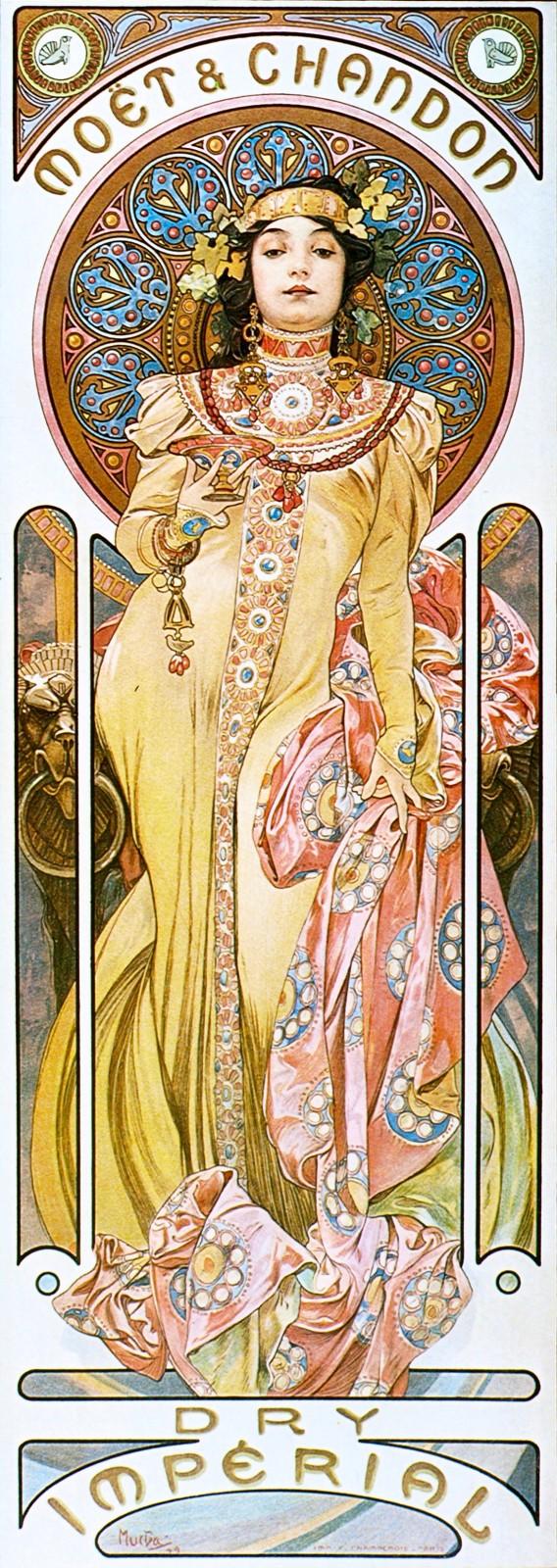 Реклама шампанского Dry Imperial марки Moet & Chandon-1899