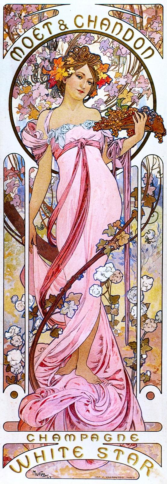 Реклама шампанского White Star марки Moet & Chandon-1899