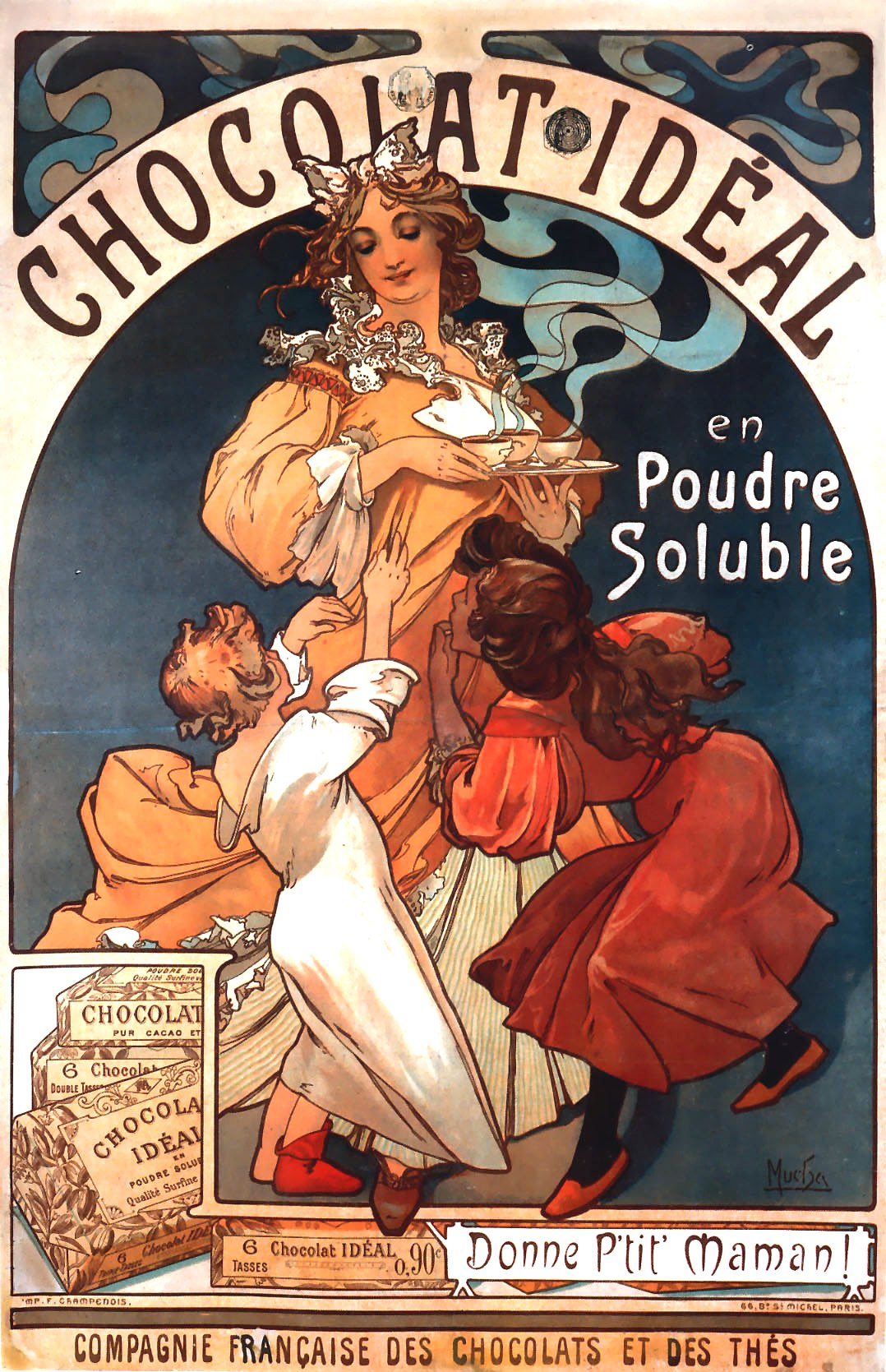 Рекламный плакат Chocolat Ideal-1897