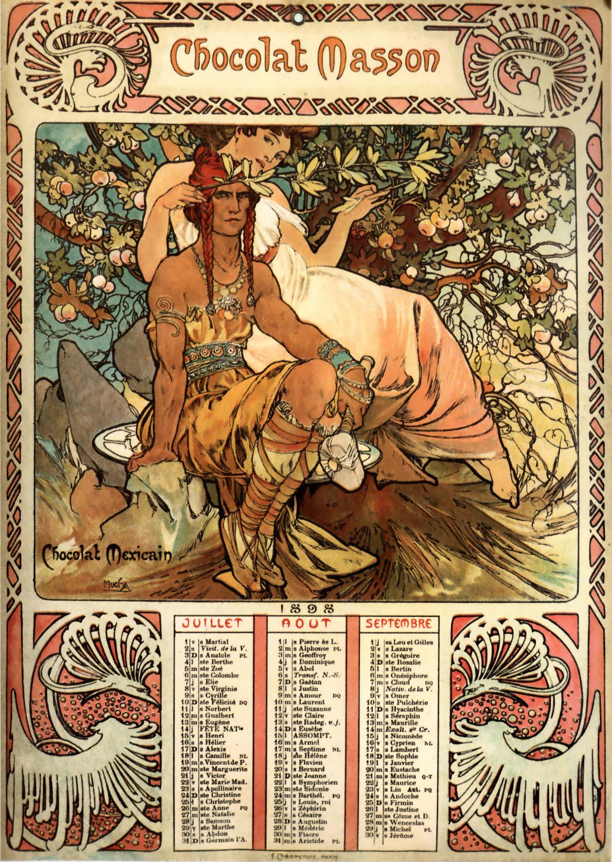 Рекламный плакат Chocolat Masson-1897