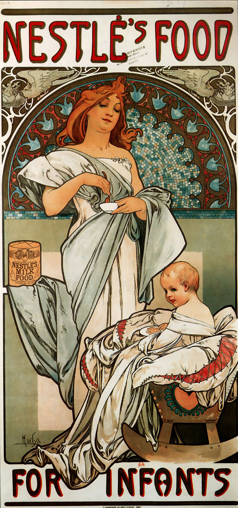 Рекламный плакат детского питания фирмы Nestle-1897