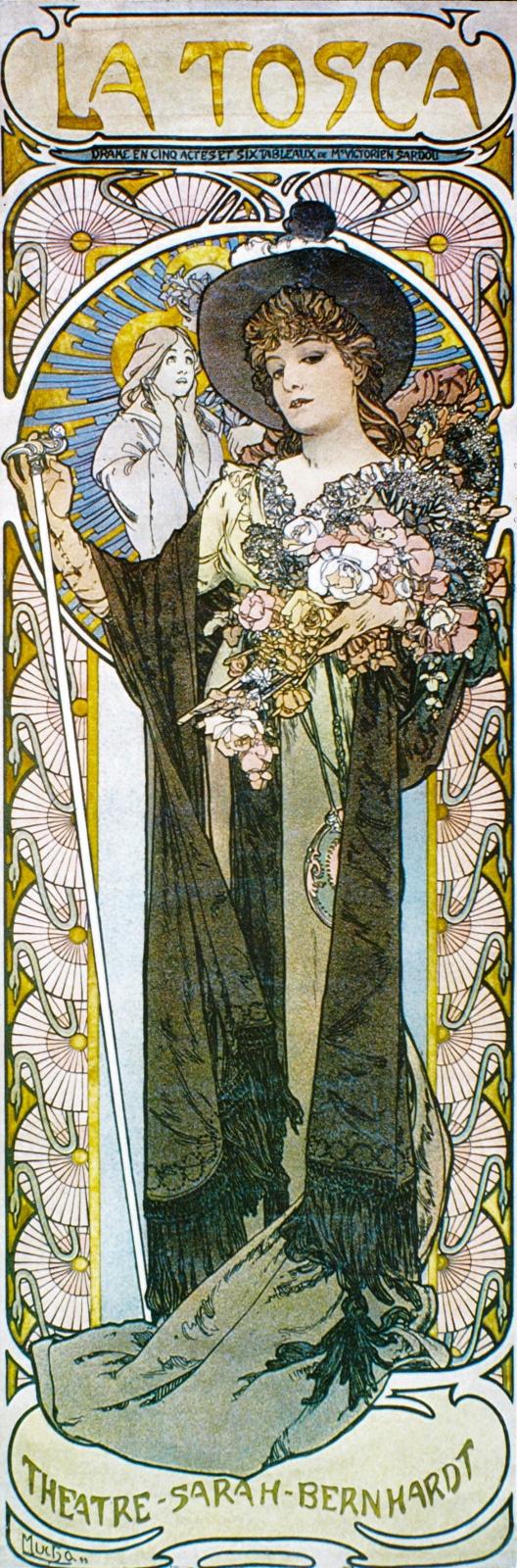 Рекламный плакат для Сары Бернар. La Tosca-1899