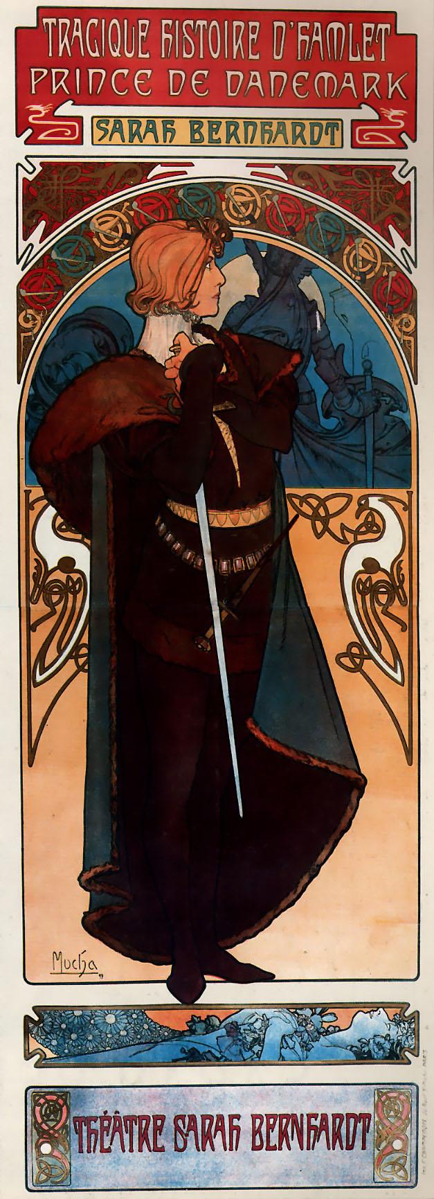 Рекламный плакат для Сары Бернар. Гамлет-1899