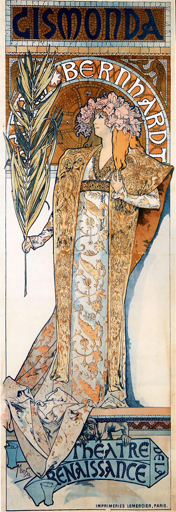 Рекламный плакат для Сары Бернар. Гисмонда-1894