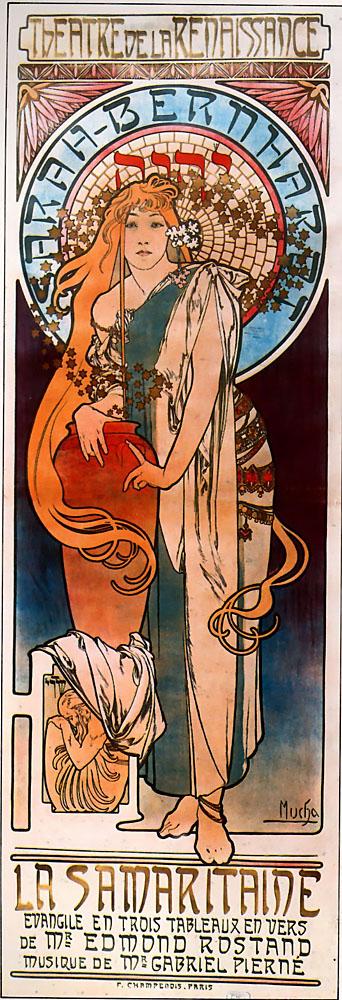 Рекламный плакат для Сары Бернар. Самаритянка-1897